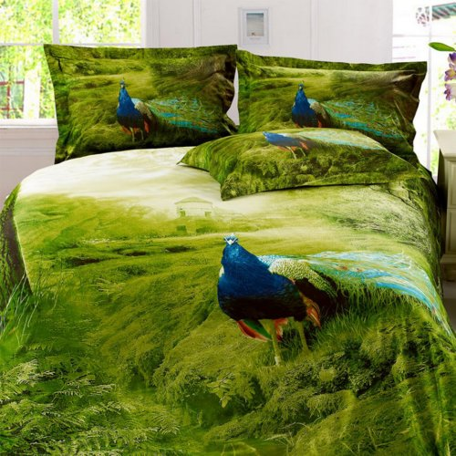 Peacock Print Bedding 2140 front