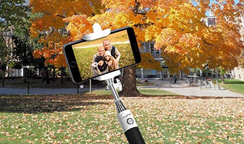 2016 New Selfie Stick Bluetooth Remote Shutter Extendable Monopod Universal for iPhone, Samsung and other IOS and Android Smartphones (Black)