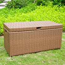 Hot Sale Jeco Outdoor Wicker Patio Furniture Storage Deck Box