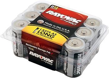 12-Pack Rayovac UltraPro Alkaline D Batteries