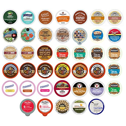 40-count Flavored Coffee Single Serve Cups For Keurig K cup Brewers Variety Pack Sampler (Keurig Cups Subscribe And Save compare prices)