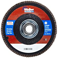 Weiler Vortec Pro Abrasive Flap Disc, Type 27, Threaded Hole, Phenolic Backing, Zirconia Alumina, 4-1/2&#034; Dia., 80 Grit (Pack of 1)