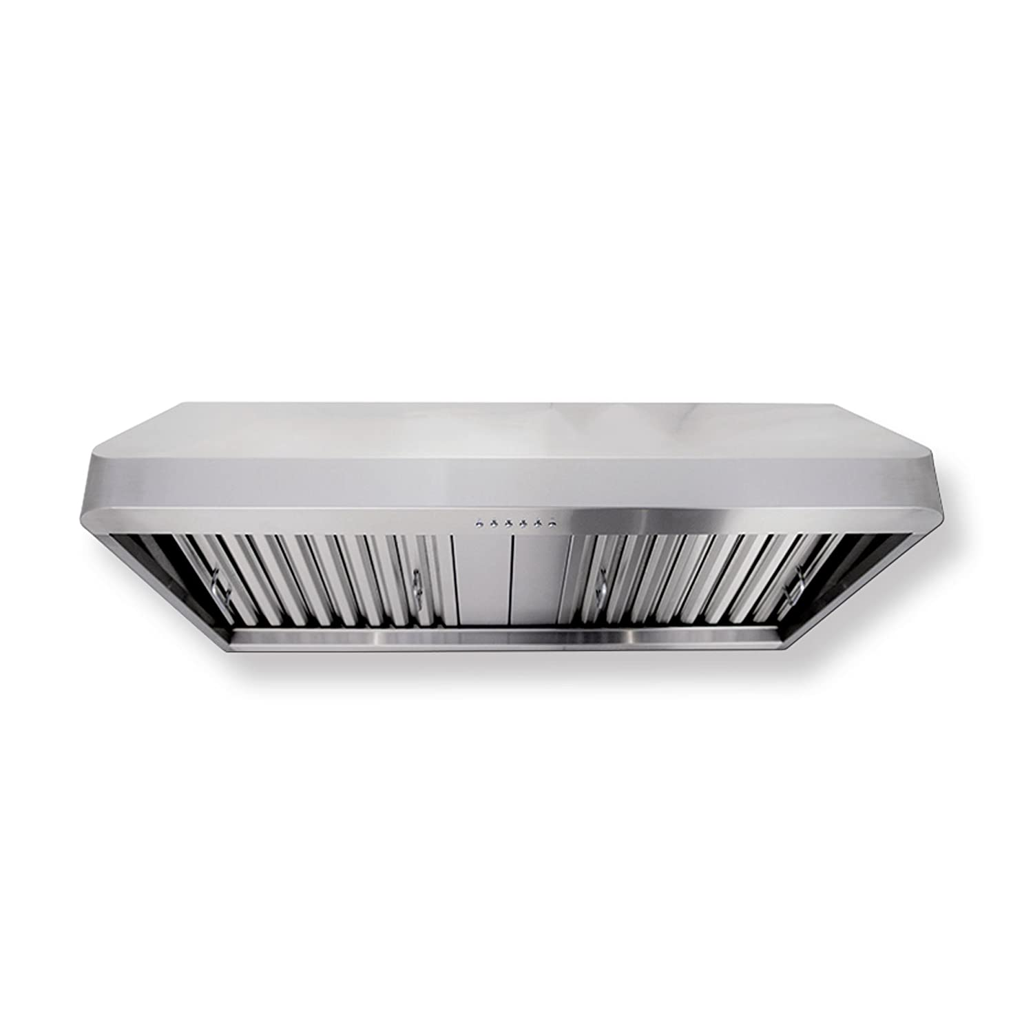 Proline PLJW 121 Wall/Under Cabinet Range Hood - 4 Speed - 900 Max CFM Blower - Stainless Professional Baffle Filters Dishwasher Safe - 3 Year Warranty - Sizes include 30 36 42 and 48 Inch