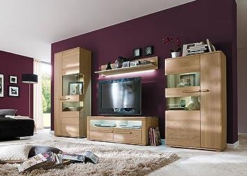 hot hot hot verkauf jumbo m bel wohnwand novara in bianco eiche massiv b huge discount new new. Black Bedroom Furniture Sets. Home Design Ideas