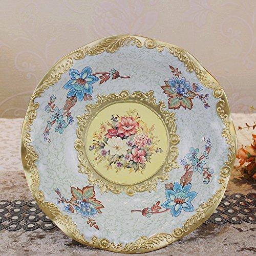 SU@DA Salon d'accueil/décorations/ornements/vogue/résine/vintage Court/grand fruit fruit bowl/ESA , picture