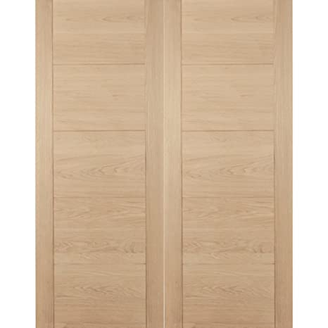 "Green Tree Doors Oak Florida Internal Door Pair 1691mm (838mm (33""))"