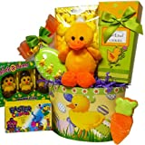 Lucky Ducky Easter Gift Basket with Chocolate and Candy Treats