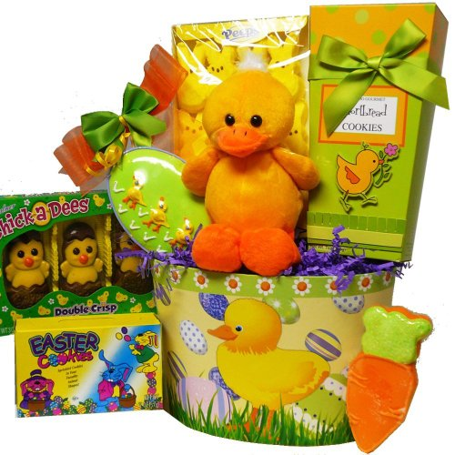 Art of Appreciation Gift Baskets Lucky Ducky Easter Gift Basket with Chocolate and Candy Treats