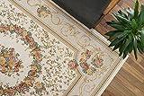 おしゃれ な 花柄 薄型 ラグ アルダ アイボリー 約 200×250 cm 約 3畳 大 ゴブラン織り カーペット 折りたたみ 可能 ホットカーペットカバー 対応