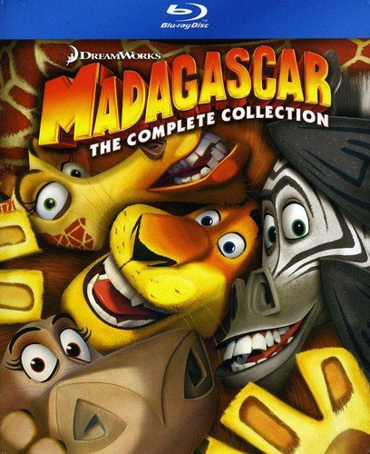 Blu-ray : Madagascar: Complete Collection 1-3 (With Movie Cash)