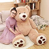 MorisMos Big Plush Giant Teddy Bear Premium Soft Stuffed Animals Light Brown (51 Inch) (Tamaño: 51 Inch)