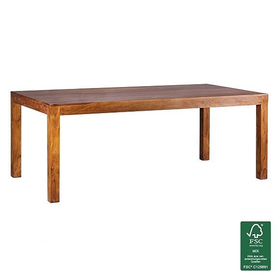 Wohnling tavolo da pranzo design massiccio Sheesham in legno massello