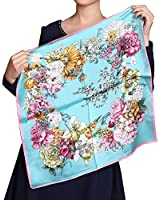 Fineplus Womens New Arrival Thicken Printing Square Silk Scarves