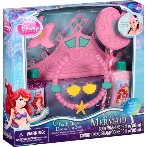 Disney Princess The Little Mermaid Bath Time Dress Up Set, 7 pc - 1