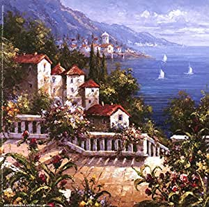 Amazon.com: Mediterranean Arches III by Gabriela Art Print, Size 6 x 6