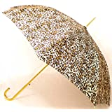"""Leopard"" Animal Print Full Size Stick Art Umbrella with Automatic Push Button Opening, Great Gift Idea ~ Animal Print Umbrellas"