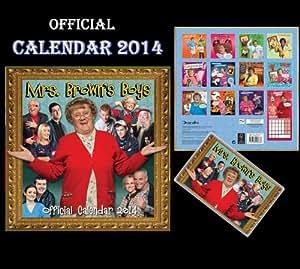 MRS BROWN'S BOYS OFFICIAL CALENDAR 2014 + FREE MRS BROWN FRIDGE MAGNET