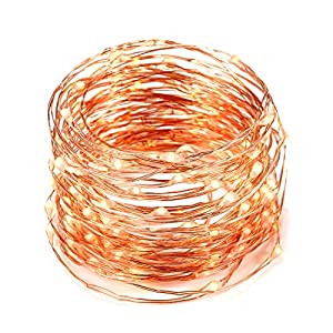120 LED 39ft Solar Fairy Lights, Oak Leaf Waterproof IP65 Starry String Light on 12M Copper wire, Light Sensor, for Outdoor & Outdoor, Idea for Garden Home Wedding Party Christmas Tree Bedroom (Warm White) from Oak Leaf