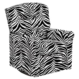 Flash Furniture Kids Zebra Print Microfiber Rocker Recliner