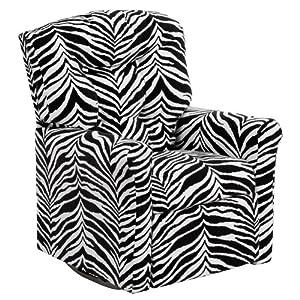 Amazon Com Flash Furniture Kids Zebra Print Microfiber