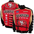 NFL Men's San Francisco 49ers 5-Time Super Bowl Champions Button up Twill Commemorative Jacket