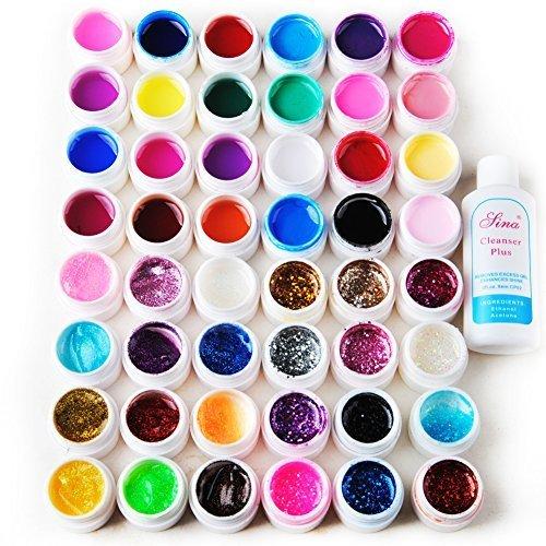 coscelia-48-couleurs-pure-transparent-pailletes-uv-gel-constructeur-nail-art-cleanser-plus-dissolvan
