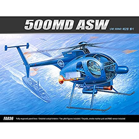 [12251] Academy Maquettes Aviation 1/48 HUGHES 500MD ASW HELICOPTER