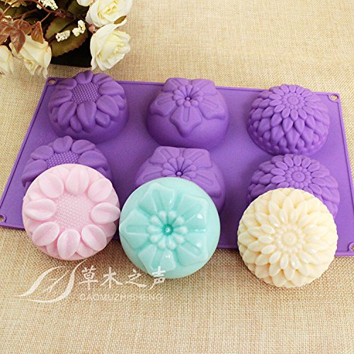 peicees-6-cavity-silicone-flower-soap-mold-chrysanthemum-sunflower-mixed-flower-shapes-cupcake-backi