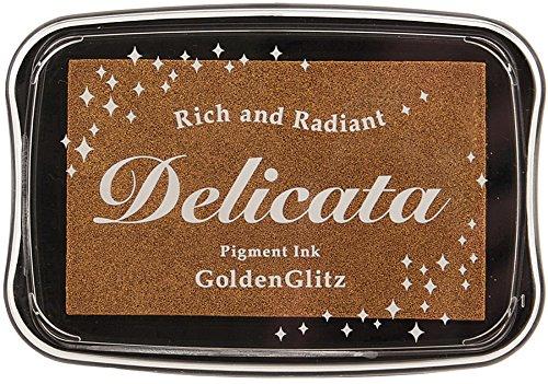 Tsukineko Delicata Golden Glitz Metallic Pigment Inkpad, Full