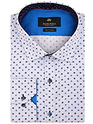 Warewell Men's Slim Fit Pure Cotton White Shirt