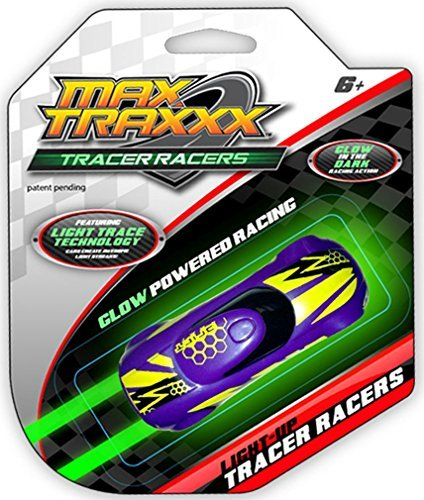 Max Traxxx Tracer Racers Light Trace Technology Car (Assorted Colors)