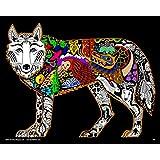Wolf - 16x20 Fuzzy Velvet Inner Nature Coloring Poster