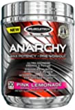 MuscleTech Anarchy Pre-Workout Pink Lemonade Powder, 153 Gram