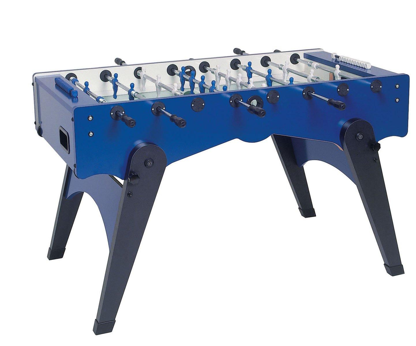 Kickertisch Garlando FOLDY Fussballtisch blau mit sandgestrahlter Glasspielfläche,Tisch-Kicker online bestellen