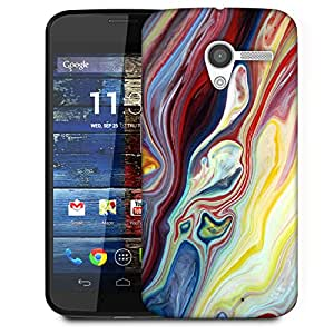 Snoogg Mixed Color Art Designer Protective Back Case Cover For Motorola Moto X