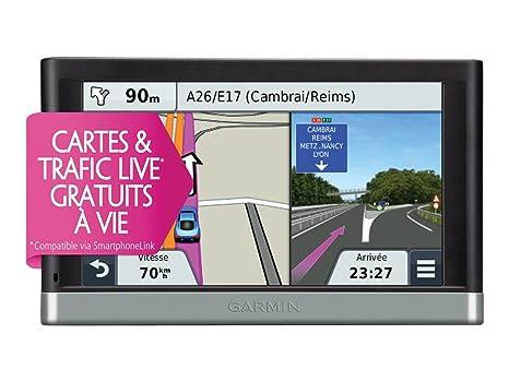 Garmin Nuvi 2567 LMT - GPS Auto écran 5 pouces - Bluetooth - Trafic et carte à vie intégrée Europe