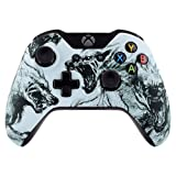 eXtremeRate Wolf Soul Soft Touch Grip Top Front Housing Shell Case Faceplate Replacement Parts for Standard Xbox One Controller With and Without 3.5 mm jack (Color: Wolf Soul)