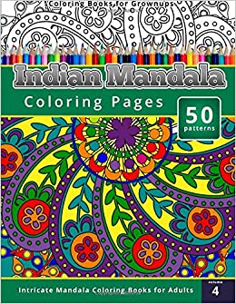 Coloring books for grownups indian mandala coloring pages Coloring books for adults on amazon