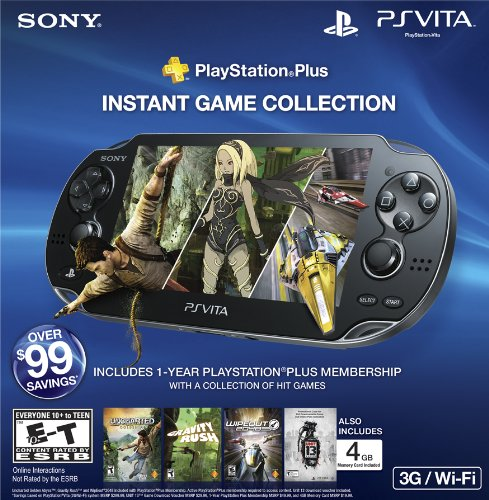 Playstation Vita 3G Bundle - 4Gb With Playstation Plus And Unit 13 Voucher