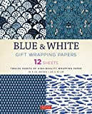 Blue & White Gift Wrapping Papers: 12 Sh...