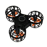 F1 Flying Fidget Spinner   Hottest new toy for 2018   Take your fidget spinners airborne with this new rechargeable Drone style spinner   Awesome tricks and Maneuvers (Color: Black)