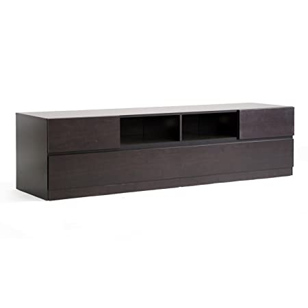 Baxton Studio Lovato Modern TV Stand, Dark Brown