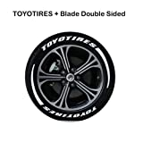 Fightsong Personality tire 3D Letter Reflective Sticker car Motorcycle tire Sticker Personalized car Styling Wheel Label Creative Realistic 3D Logo car Styling Wheel Label (Tamaño: TOYOTIRES+?????)
