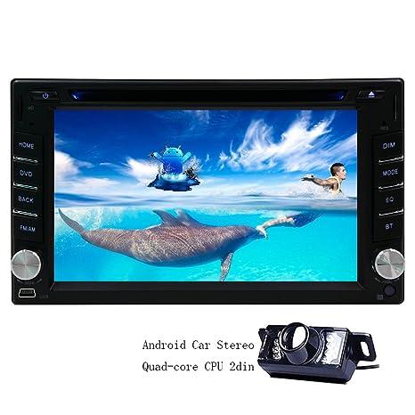6,2 pouces Eincar 2 Din Android 4.4.4 OS Radio Car Player Cars Universal Quad Core 1.4G Cortex A9 CPU 1G RAM šŠcran capacitif multi-touch Autoradio bluetooth Dans dash CamšŠra de recul GPS Navigator DVD Prise en charge audio St
