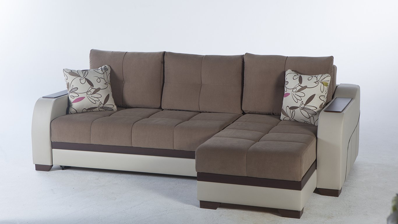 Ultra Optimum Brown Sectional Sofa