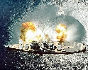 USS Iowa BB-61 Battleship Firing Guns 11x14 Silver Halide Photo Print