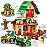P&R Kids 541pc Fun Farm Creative Diy Educational Toys Building Block Set Best Gift For Boys And Girls