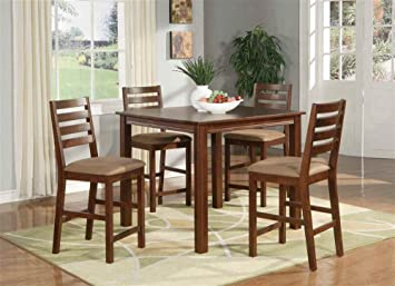 Cafe Table Set in Espresso Finish