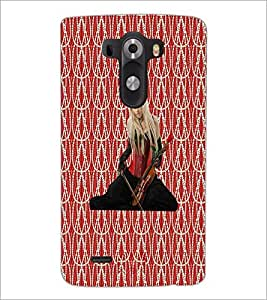 PrintDhaba Violin Girl D-3015 Back Case Cover for LG G3 (Multi-Coloured)