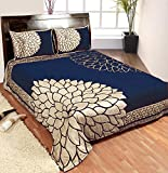 Nine Living Contemporary Blends Bedding Set- Blue (Set Of 3)